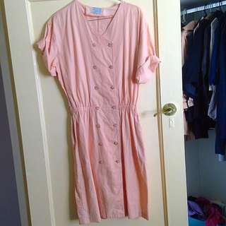 Size 10 Pale Pink Vintage Dress Suits Size 8 With Belt
