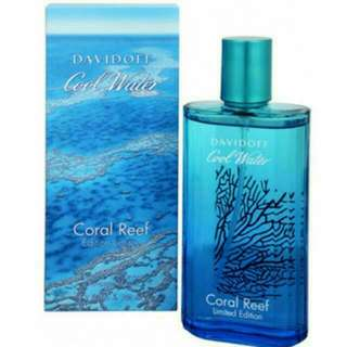 125 ml Davidoff Cool Water Coral Reef Limited Edition **All Perfume listed is 100% Authentic & Brand New.**