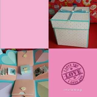 手工卡片 特製款禮物盒