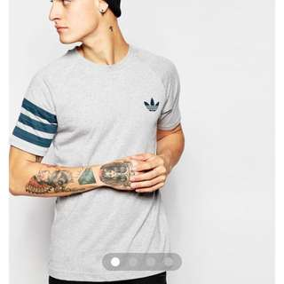 Adidas Originals T Shirt In Grey Marl