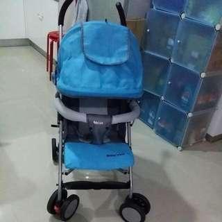 【限面交】二手Motheras Love嬰兒輕巧手推車附送黃色小鴨雨罩一個【不可平躺,斜度如照片一樣】