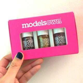 英國品牌modelsown亮粉指甲油組合
