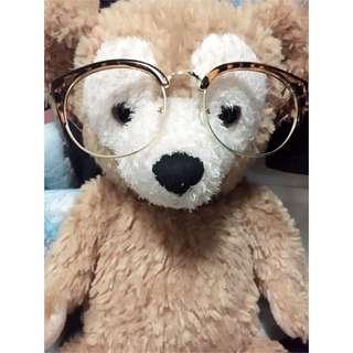 豹紋無鏡片眼鏡