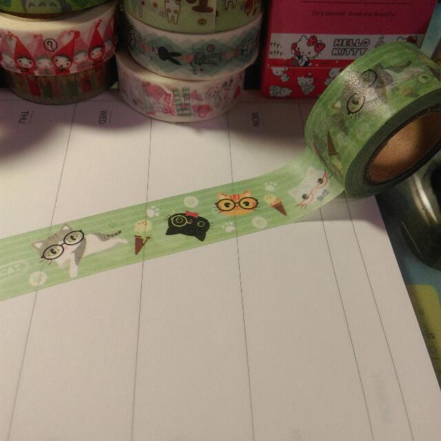 🐱分裝🐱眼鏡貓咪紙膠帶