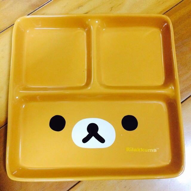拉拉熊大臉款美味陶瓷大方格盤