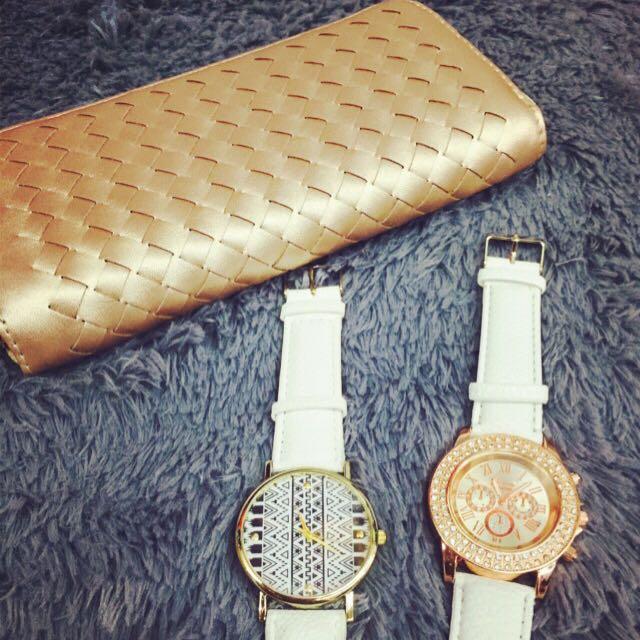 編織皮夾及手錶