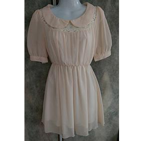 二手 氣質 蕾絲 雪紡洋裝