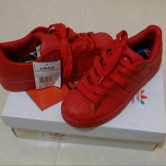 new styles 62155 85973 Adidas Original Superstar Supercolor Pharel William Red ...