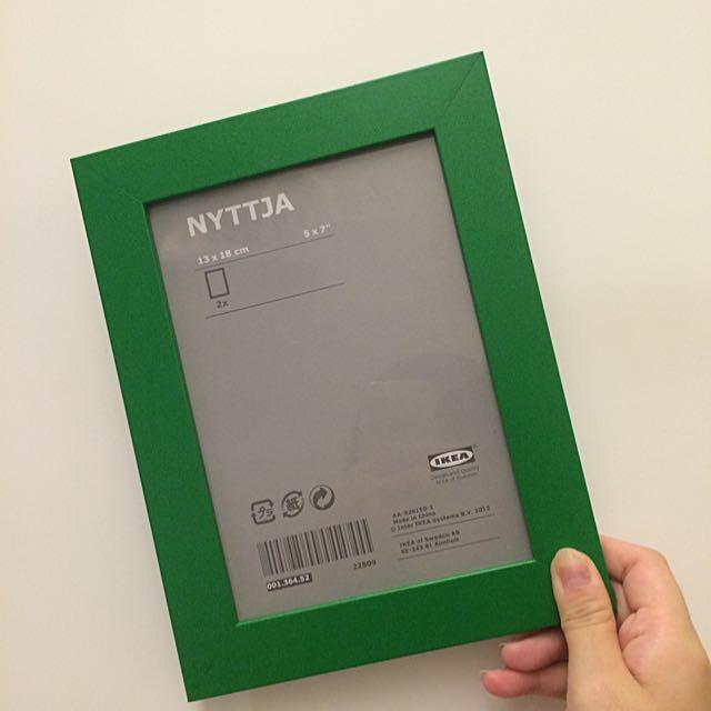(保留)IKEA 5x7綠色相框