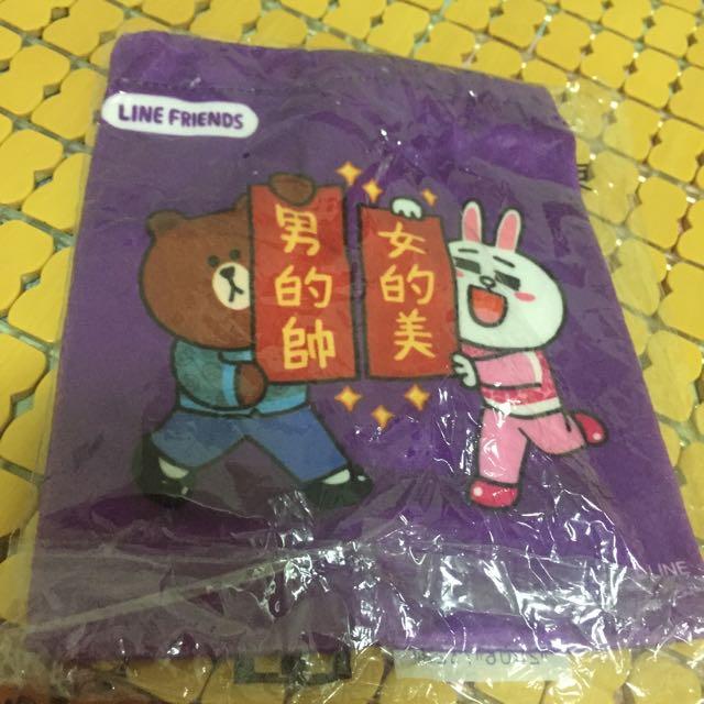 (全新)line的束口袋