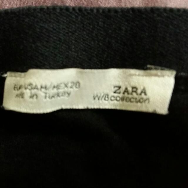 Zara開叉包臀黑色長裙