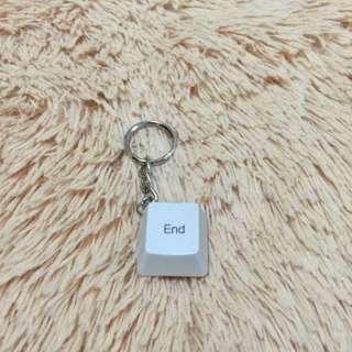 (手工)鍵盤鑰匙圈-End