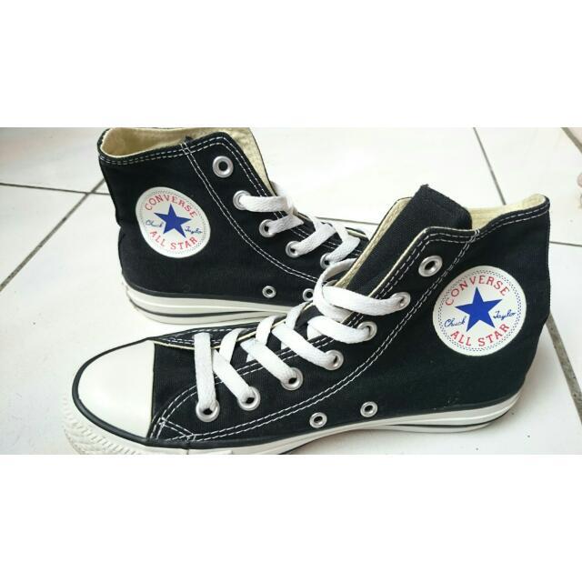 (1190免運)女-🌠CONVERSE 帆布鞋基本款高筒-黑色All Star