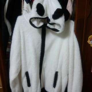 全新厚磅熊貓情侶外套