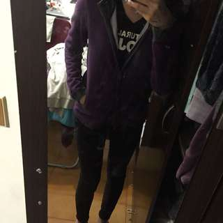 a la sha 紫色連帽外套