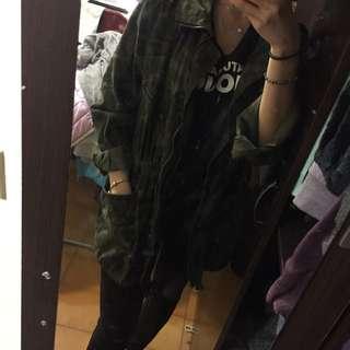 正韓迷彩軍綠外套