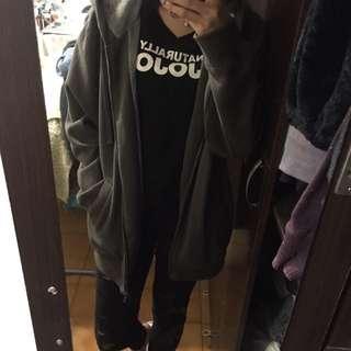 lativ鐵灰內刷毛外套/L