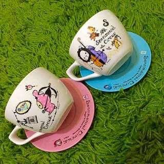 可愛動物 陶瓷杯盤組 2件