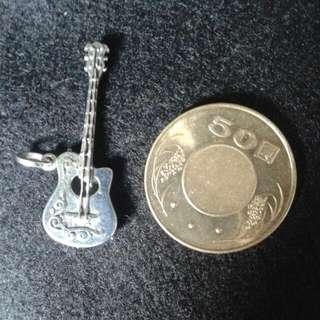 (全新)925純銀 吉他 項鍊墜子