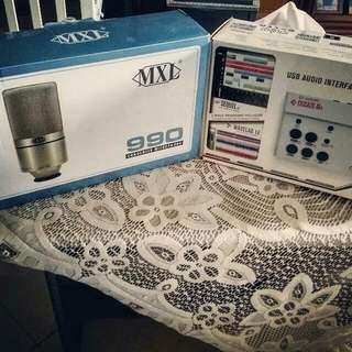 MXL 990 mic and audio interface CL1