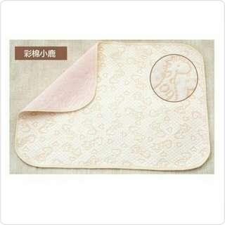 有機彩棉竹纖維防水透氣4層雙面尿布墊/隔尿墊/防水墊/床單/月經墊/產辱墊