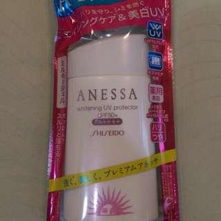 日本帶回 安耐曬 ANESSA 全新白瓶 美白 防曬乳 SPF50+ PA++++ 資生堂