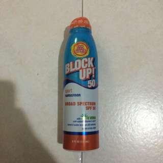 Block Up! Sport Sunscreen Spray SPF 50