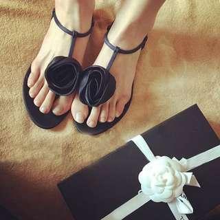花朵 平底涼鞋