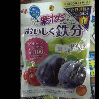 日本明治 果汁軟糖 草莓 綜合 橘子