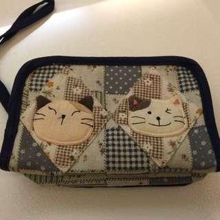 🌀☀️降降降。出清200☀️🌀 貓貓皮夾包/雜物包(非新品)