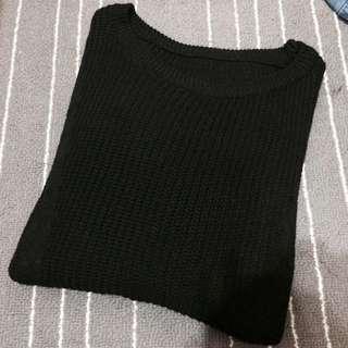 黑色 毛衣