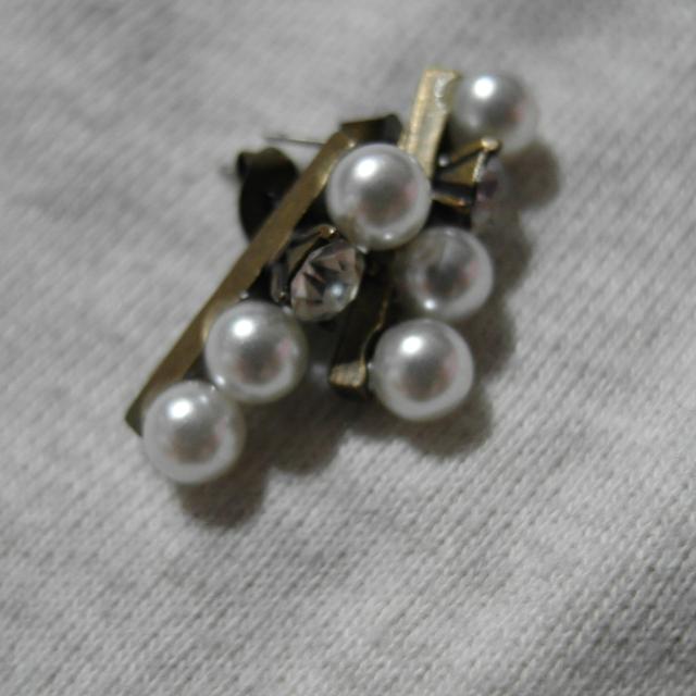 復古精緻直排珍珠耳環