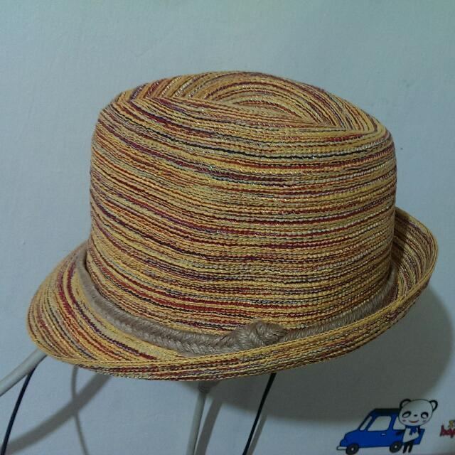 混色編織帽