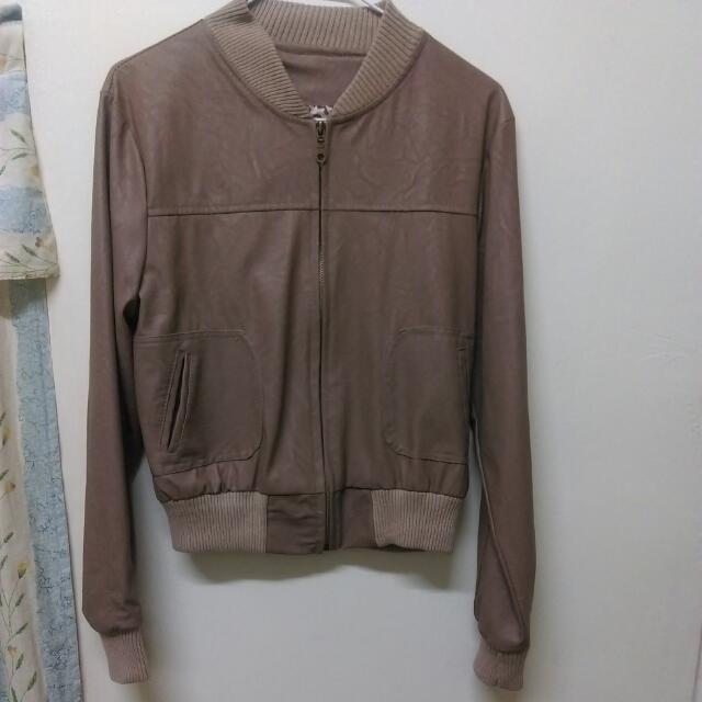 (全新)棕色豹紋皮衣