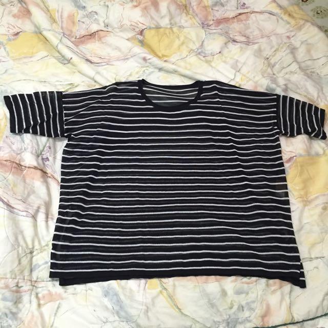 ✨黑白條紋針織上衣