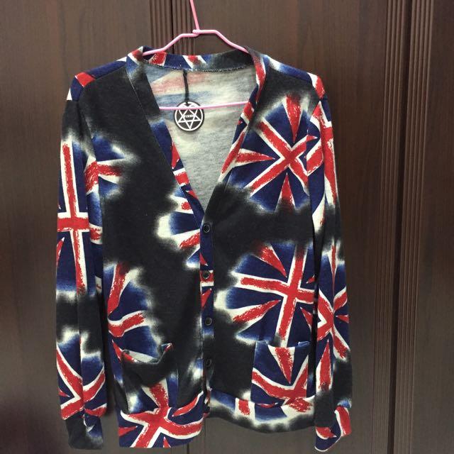 針織國旗外套