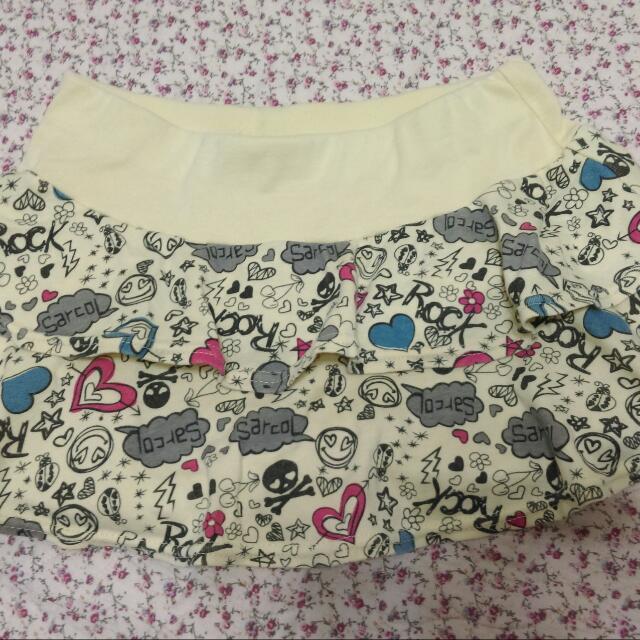 龐克蛋糕裙(內有安全褲