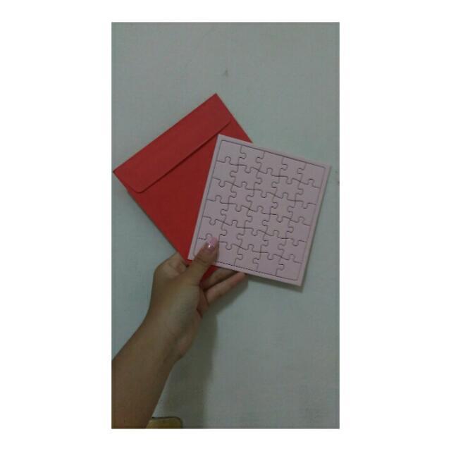 創意拼圖卡片 正方形