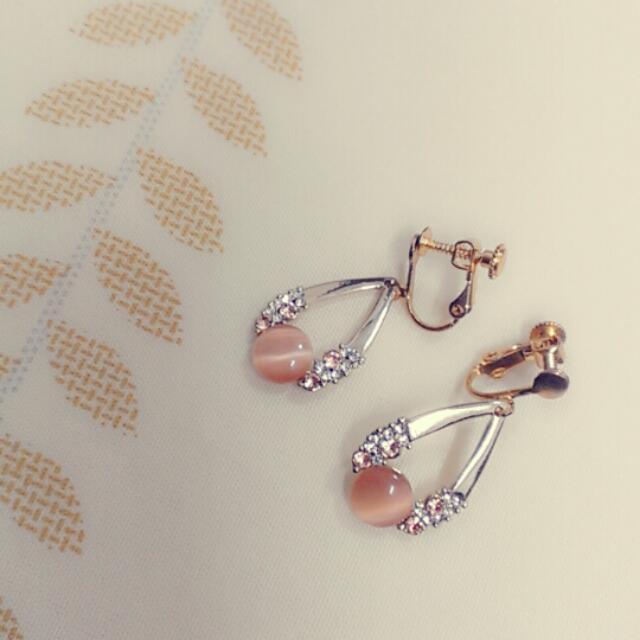 韓風 夾式耳環 全新