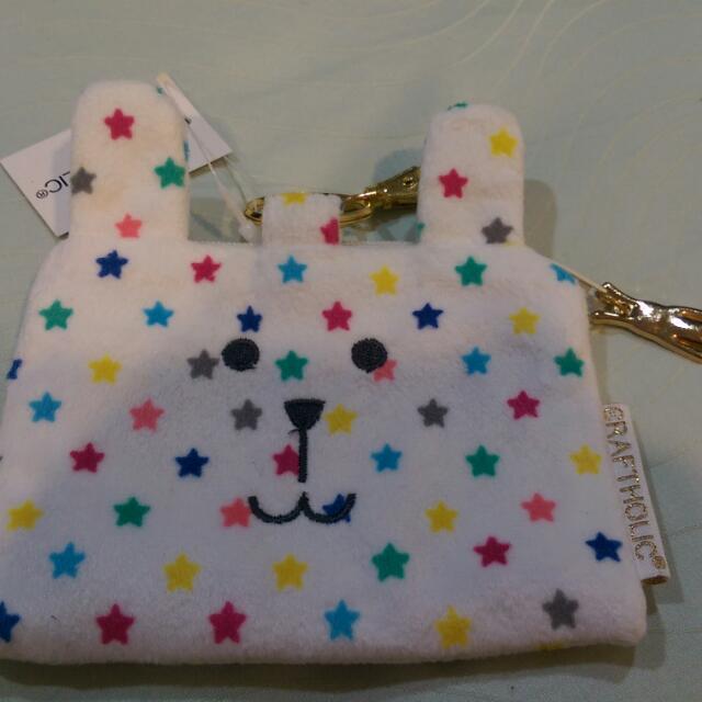 (保留) 日本帶回 CRAFTHOLIC 宇宙人 彩色星星 兔子 小零錢包/悠遊卡夾/票卡夾/識別證套