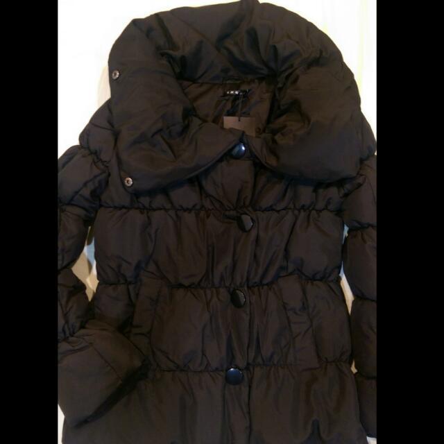 日本帶回 INGNI 翻領空氣感黑色保暖外套