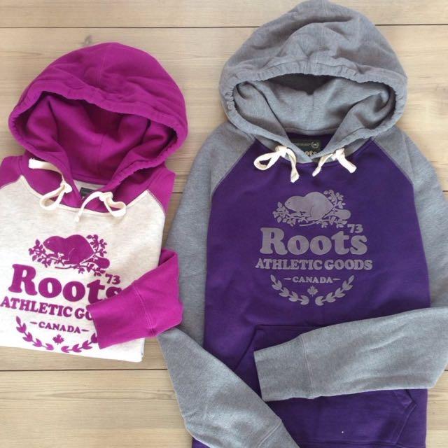 全新正品 Roots 秋冬新款 女生棉質帽T 雙配色 兩色