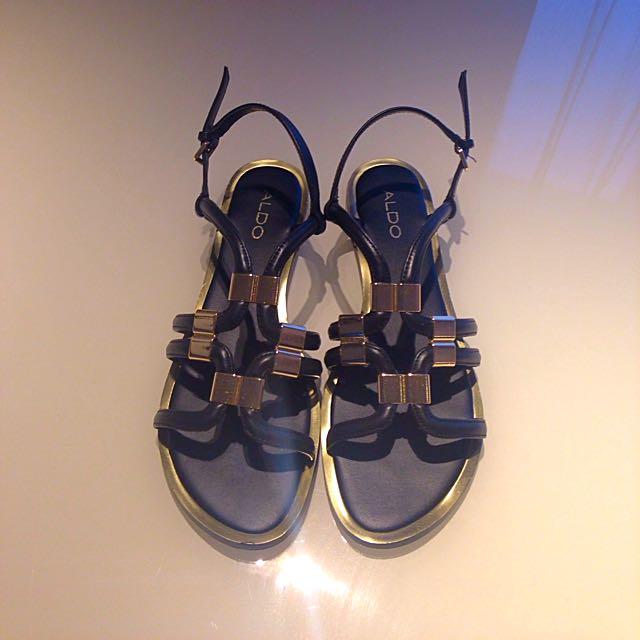 Black & Gold Sandals