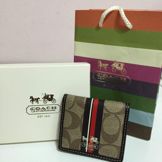 大降價囉!!!Coach零錢包(正貨,附盒子與紙袋,9.9成新)