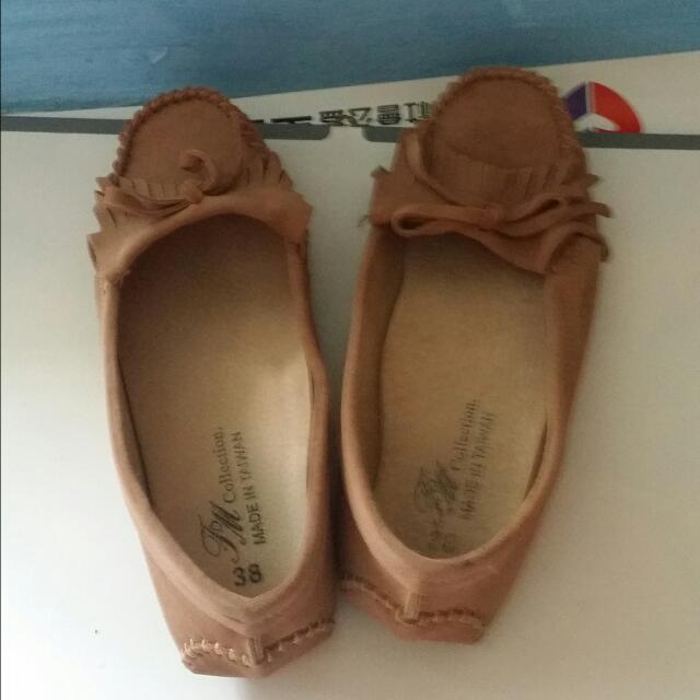 FM 豆豆麂皮鞋