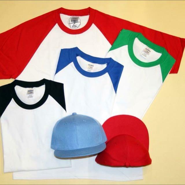 特價!Gildan 76500 棒球衣 接袖衣 拼接 多色棒球衣 T-shirt