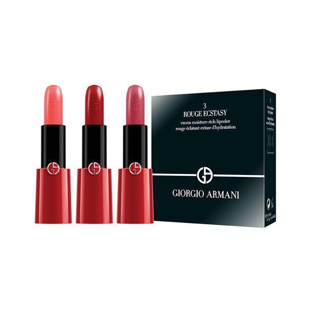 【免稅】GIORGIO ARMANI 奢華訂製CC唇膏三支裝