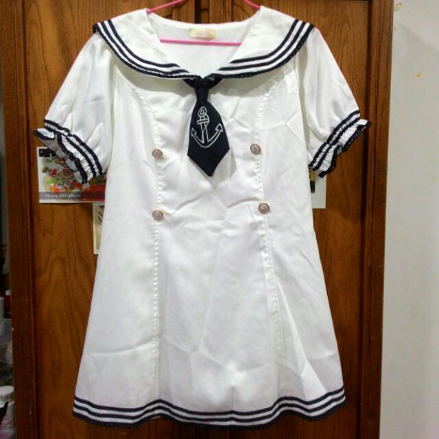 Mussa全新 小護士 水手服 挺版 質感 小心機 洋裝(預定)