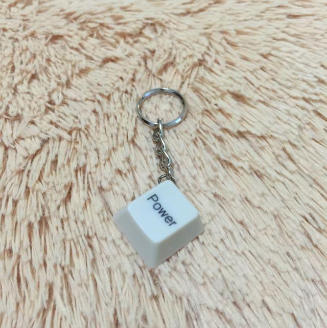 (手工)鍵盤鑰匙圈-POWER