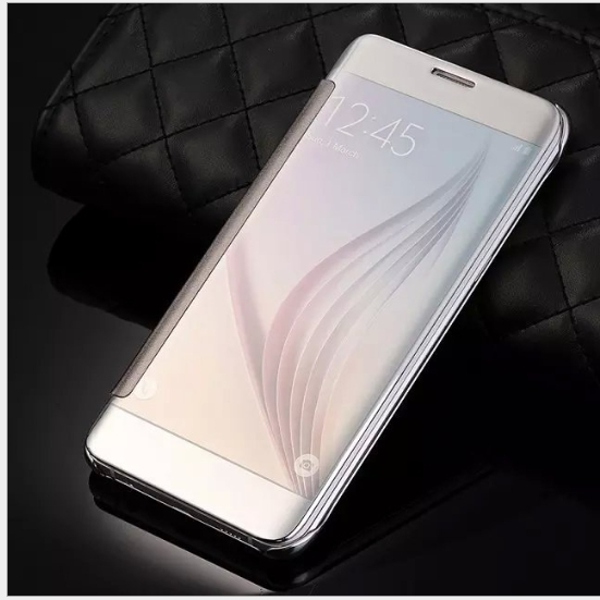 S6 S6 edge A5 NOTE4 A7 電鍍鏡面智能皮套(掃二維)